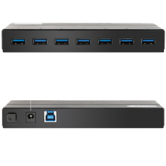 Inateck 7-Port USB 3.0 Hub with 12V 3A Power Adapter and 7 BC 1.2 Charging Ports