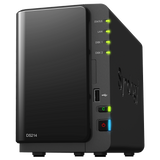 Synology DS214 DiskStation 2-Bay Pre-Configured Storage (NAS)