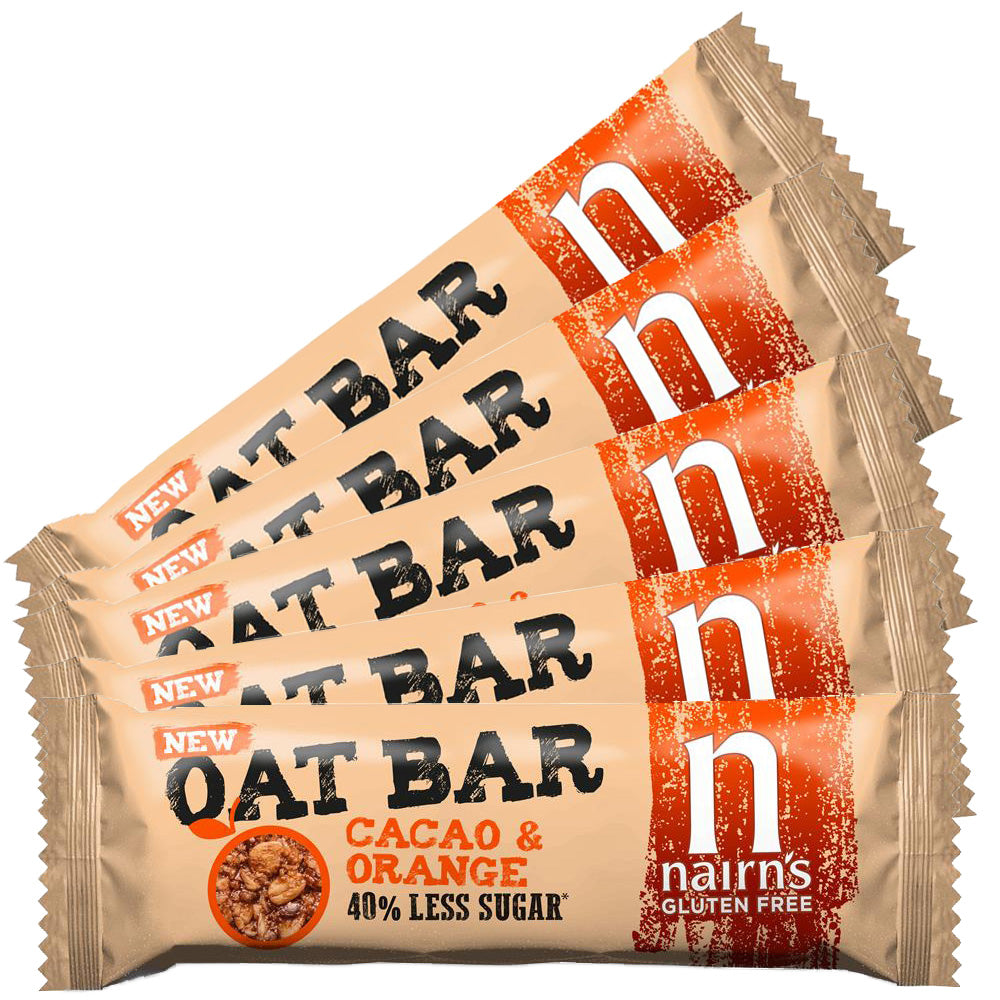 Gluten Free Cacao & Orange Oat Bars 40g