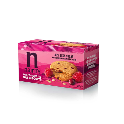 Mixed Berries Oat Biscuits wheat free 200g