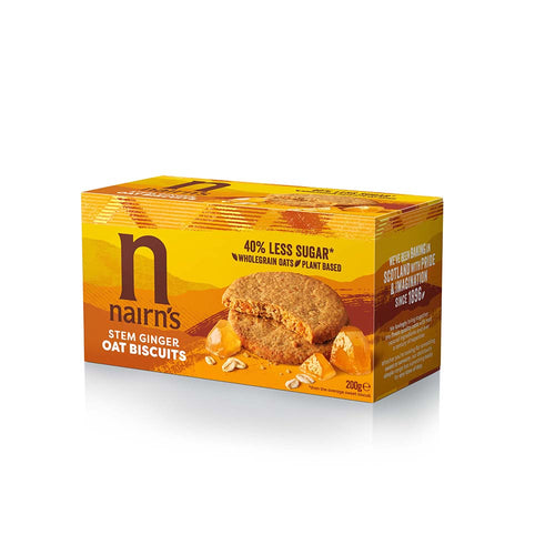 Stem Ginger Oat Biscuits 200g