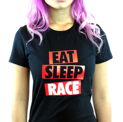 Eat Sleep Race - Box Logo Röd/Vit
