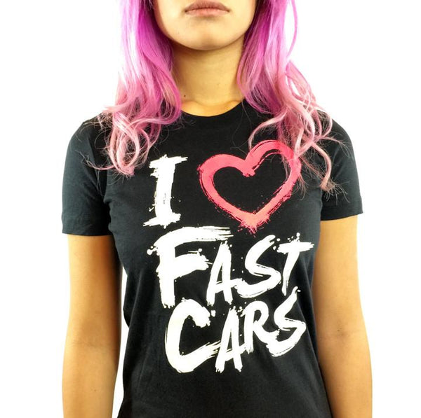 I Love Fast Cars (pink/black)