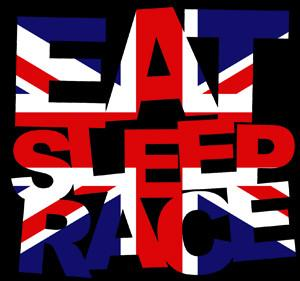 Eat Sleep Race - England Logo