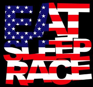 Eat Sleep Race - USA Logo