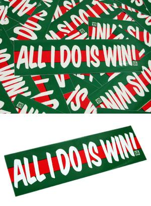 All I Do Is Win Box Sticker - Grön (Bumper sticker) Dekal