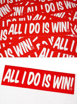 All I Do Is Win Box Sticker - Röd (Bumper sticker) Dekal