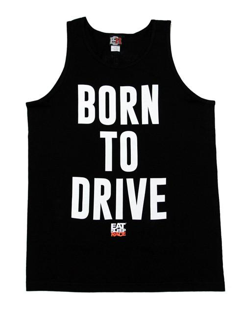 Born To Drive Tank Top - Svart