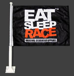Eat Sleep Race - Fönsterflagga