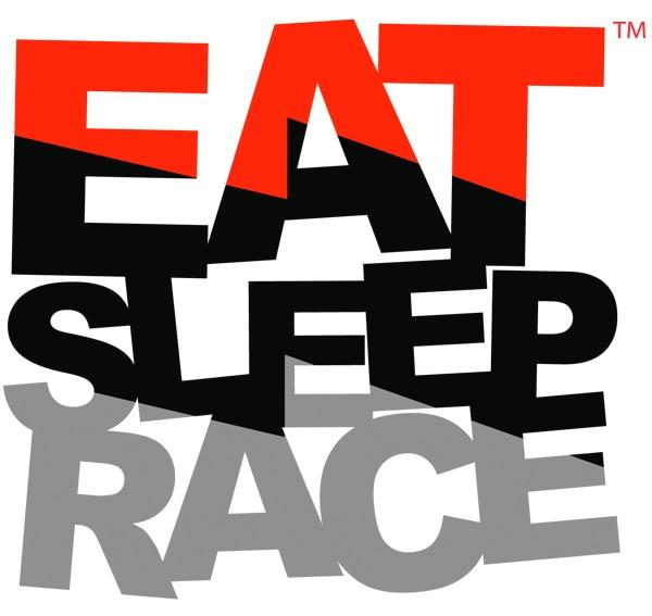 Eat Sleep Race logo bolt.