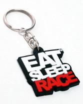 Eat Sleep Race Logo Nyckelring