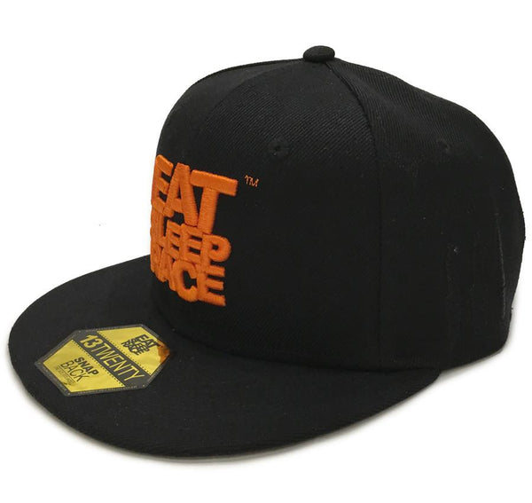 Logo Team Snapback - Svart/Orange