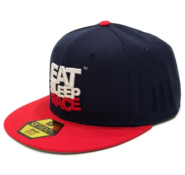 Logo Team Snapback - Navy/Red