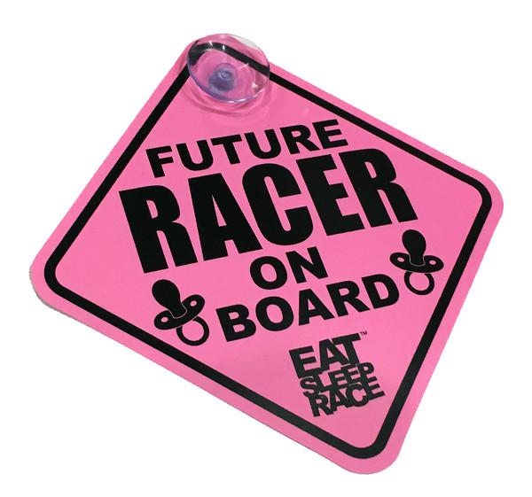 Future Racer on Board - Skylt - Rosa