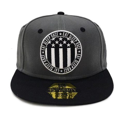 Circle Flag Snapback - Grå/Svart | Circle Flag Snapback - Grey/Black