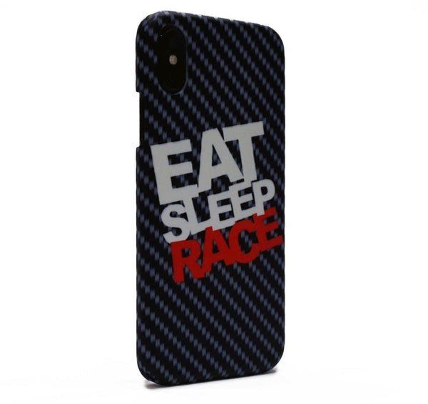 Eat Sleep Race skal i kolfiber till iPhone X.