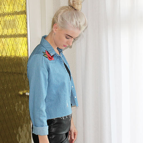 modemusthaves cropped denim shirt