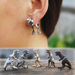 Cool Punk Rock T-Rex Dinosaur Gauge Earrings