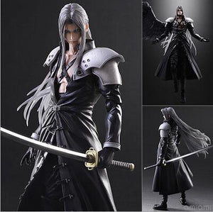 Final Fantasy VII Sephiroth action figure with gift box 28cm