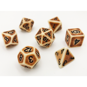 ANCIENT BONE DICE BY HEDRONIX
