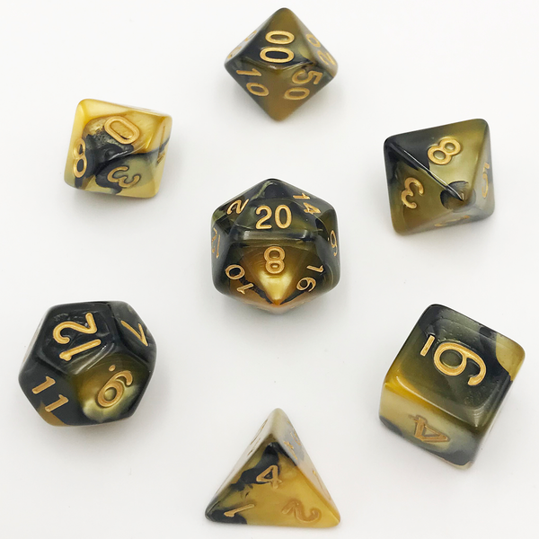 TIGER'S EYE DICE BY HEDRONIX