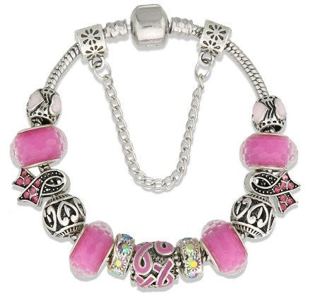 Breast Cancer Awareness Charm Bracelet Limited Edition
