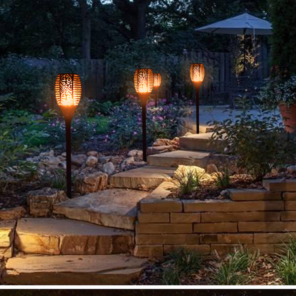 Solar Path Dancing Flame Tiki Torch Light