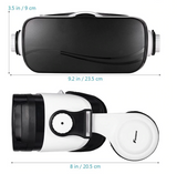 FOXNOVO 1 PC 3D VR Immersive Movie Glass Headset Virtual Reality Adjustable Games Video Headphone Glasses Goggles