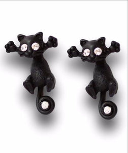 NEW HOT FASHION CUTE KITTEN EAR JEWELRY CAT STUD EARRINGS FOR WOMEN MULTIPLE COLOR