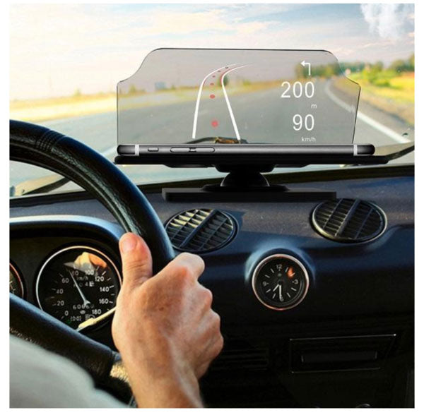 car navigation iphone android heads up display HUD tech accessory