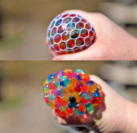 Exploding Colorful Balls Stress Ball With LED Lights