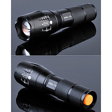 Lights LED Flashlights/Torch LED 2000 lumens Lumens 5 Mode Cree T6 18650 / AAAAdjustable Focus / Waterproof / Rechargeable / Impact