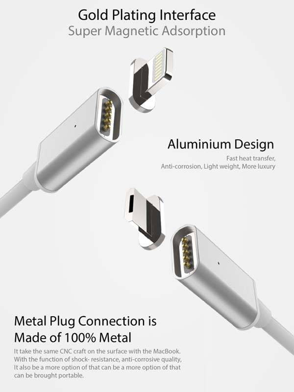 2.4A HIGH SPEED  MAGNETIC CHARGING CABLE FOR ANDROID/IPHONE