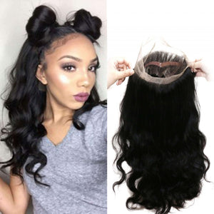 360 Pre-plucked Lace Front Hair With Baby Hair & 2 Bundles