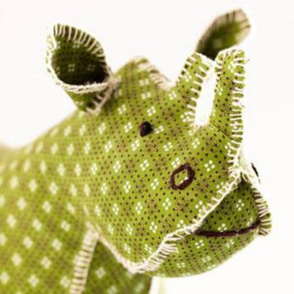Handcrafted Plush Rhino
