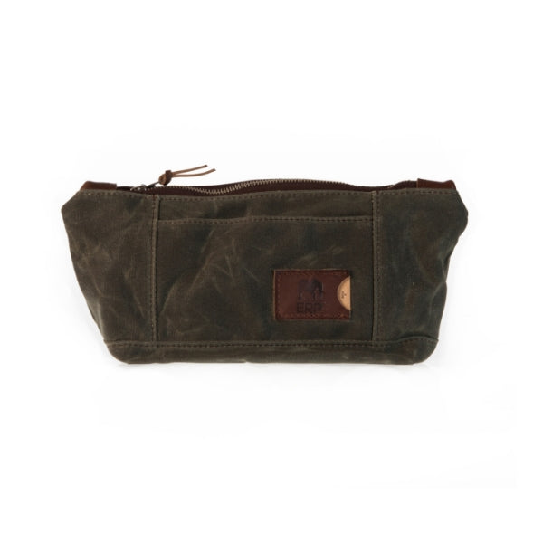 ERP Dopp Kit, Olive Green Waxed Canvas