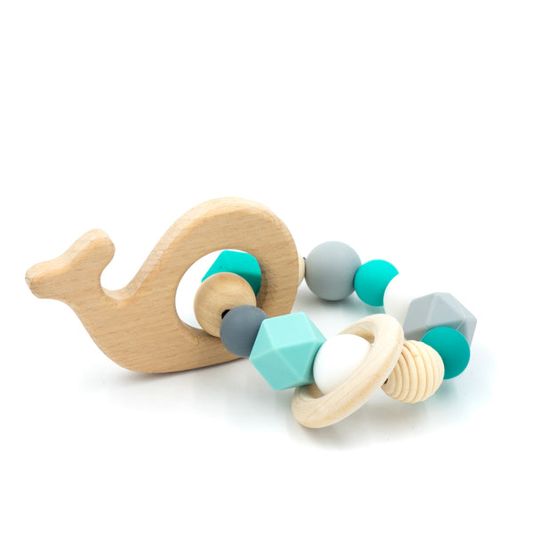 Teething Ring - Whale by BabyWhatKnots