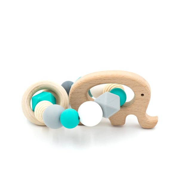 Teething Ring - Elephant by BabyWhatKnots