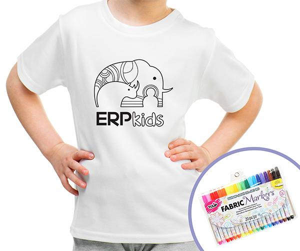 ERP Kids color me t-shirt