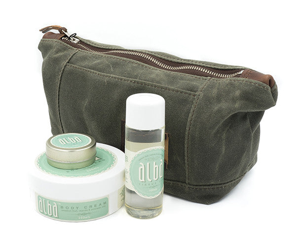 ERP Dopp Kit - Olive Green Waxed Canvas