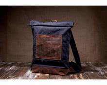 Load image into Gallery viewer, Canvas BackPack designed by Tram21