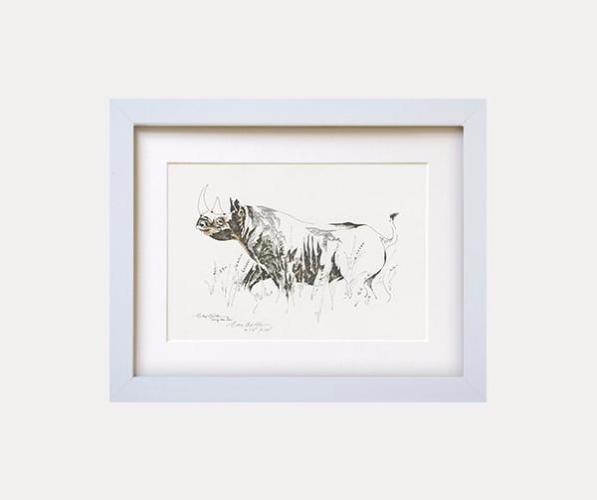 Clive Walker - Big Five Rhino Print
