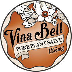 Vina Bell 125mg per oz -Pure Plant Salve - Sore Muscle Relief  (2oz)