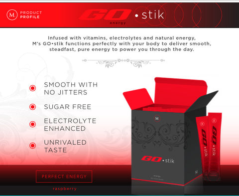 GO•stik Energy Boosting Water Enhancer - 30 sticks per box