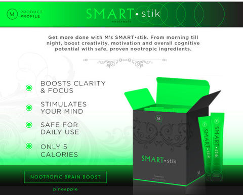 SMART•stik Brain Boosting Water Enhancer - 30 sticks per box