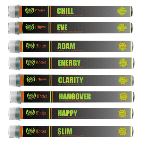 Vape Pens -Disposable - 25mg Hemp Extract - 9 varieties