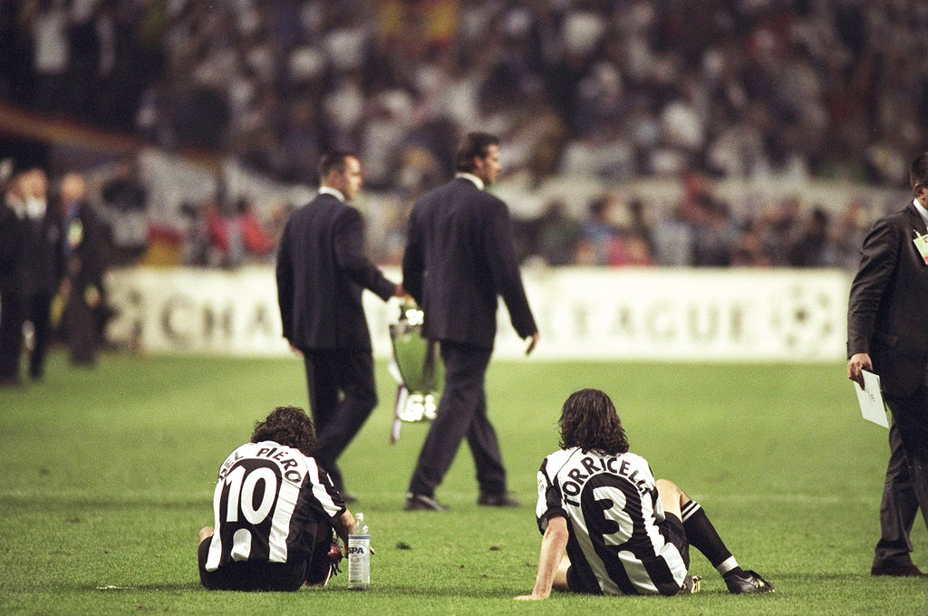 Del Piero, tras la final de 1998 contra el Real Madrid. Getty