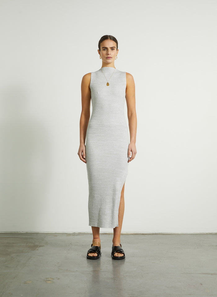 ALEKA Dress (PEBBLE)