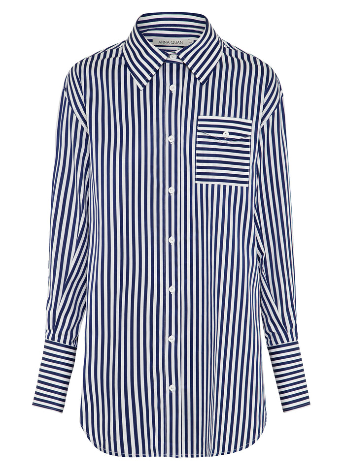 LESLEY shirt (FRENCH NAVY STRIPE)