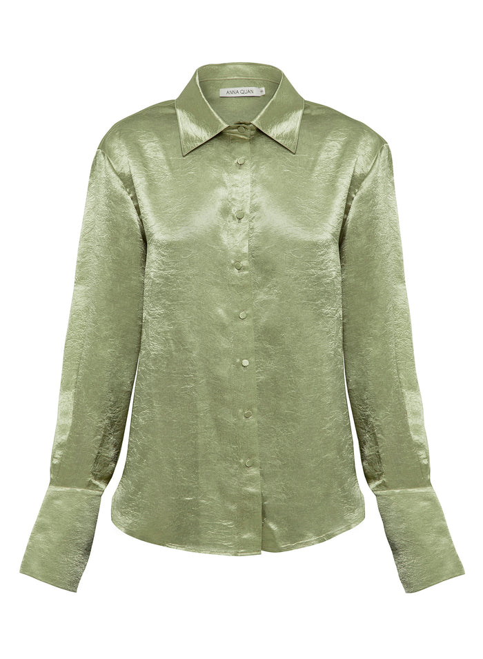 LANA shirt (CRUSH JUNGLE GREEN)
